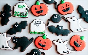 Galletas De Chocolate Decoradas Con Glasa: Halloween