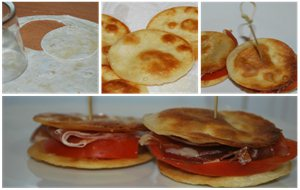 Canapes Con Tortillas De Trigo