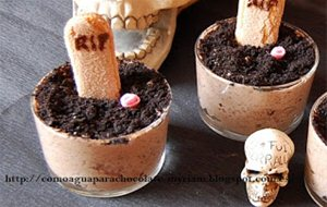 Tumbas De Mousse De Chocolate Para Halloween