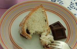 Angel Food Cake Con Trozos De Chocolate