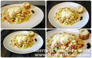 Risotto De Verduras Y Bacon