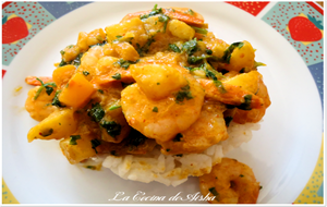 Gambas Con Curry De Mango