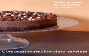 Tarta Mousse De Chocolate Sin Horno.