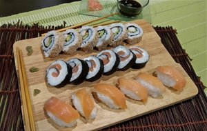 Niguiris,makisushi Y California Rolls