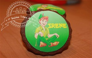 Galletas De Peter Pan Decoradas Con Papel De Azúcar. Tutorial