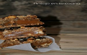 Barritas De Toffee, Avellanas, Pepitas De Chocolate Y Coco