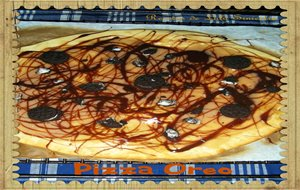 Pizza Con Chocolate Y Galletas Oreo