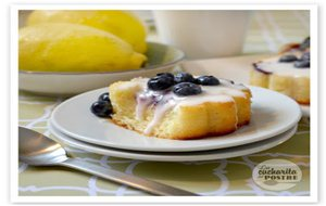 Bizcochitos De Limón Y Arándanos / Blueberry And Lemon Small Sponge Cakes