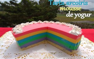 Tarta Arcoiris Mousse De Yogur