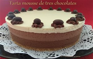 Tarta Mousse Tres Chocolates