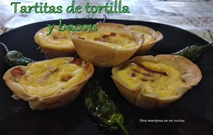 Minitartitas De Tortilla Y Bacon