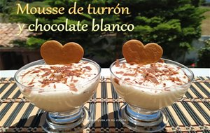 Mousse De Turrón Y Chocolate Blanco
