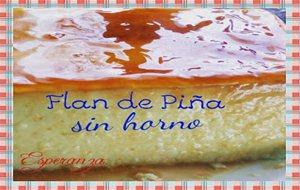 Flan de pi a sin horno - Flan de huevo sin horno ni bano maria ...