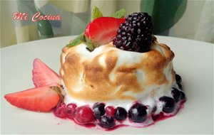 Pastel tres leches con merengue