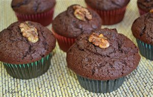 Magdalenas Con Chocolate Y Nueces