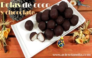 Bolas De Coco Y Chocolate