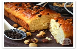 Brioche De Chocolate Y Avellanas / Hazelnut And Chocolate Brioche