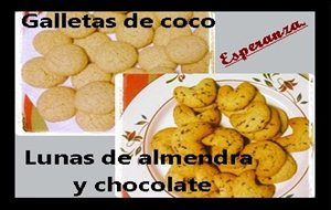 Galletas De Coco // Lunas De Almendra Y Chocolate